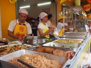黄色い旗がジェー料理の印