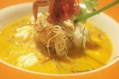 カニのカレー&ビーフン麺。