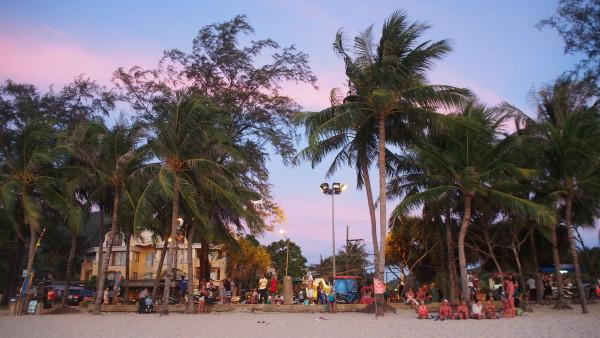 パトンビーチのサンセット