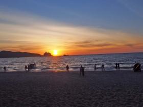 パトンビーチの夕日