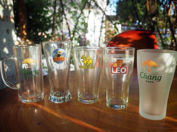 タイのビールグラス@ゴチャパン・プーケット